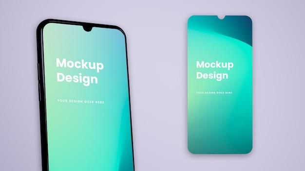 Telefono e schermo - ui ux mockup