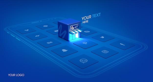 Макет концепции покупок телефона