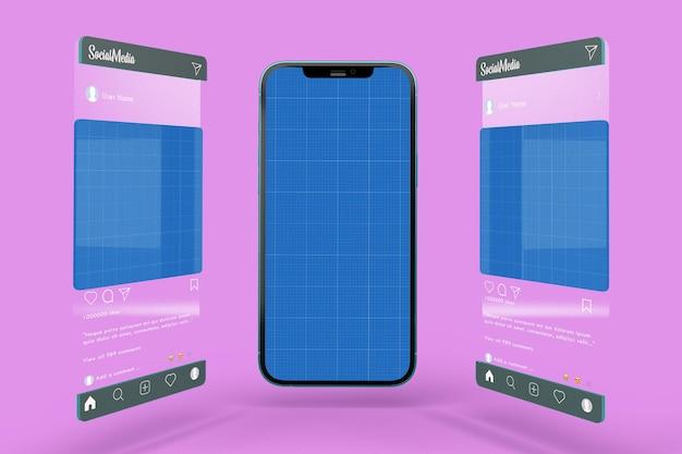 Phone and social media v1 mockup
