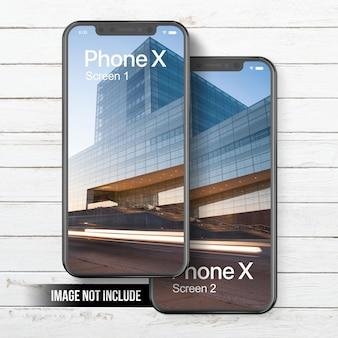 Phone x mockup dual screen