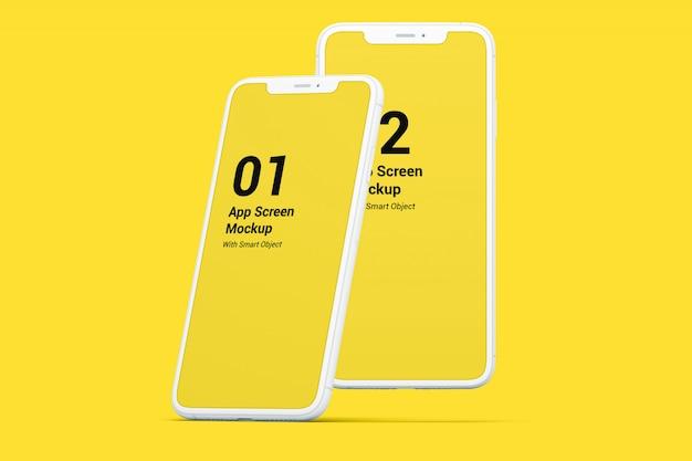 Телефоны экраны макет Premium Psd