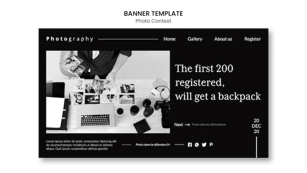 Photo contest banner template