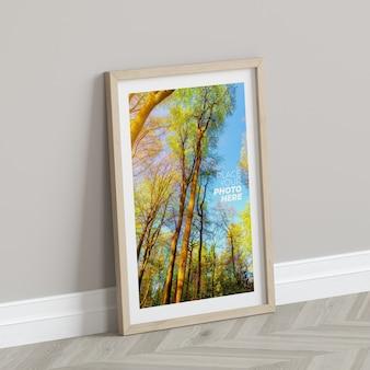 Photo frame mockup on the floor