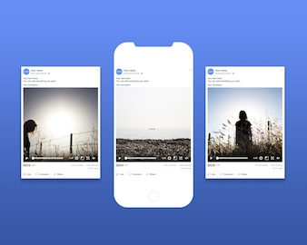 Photo frame mockup from social network