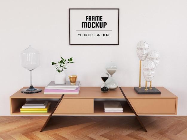 현대 거실의 사진 프레임 모형