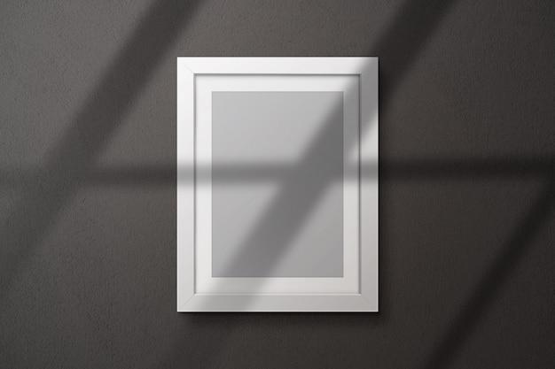 Photo frame mockup on a wall