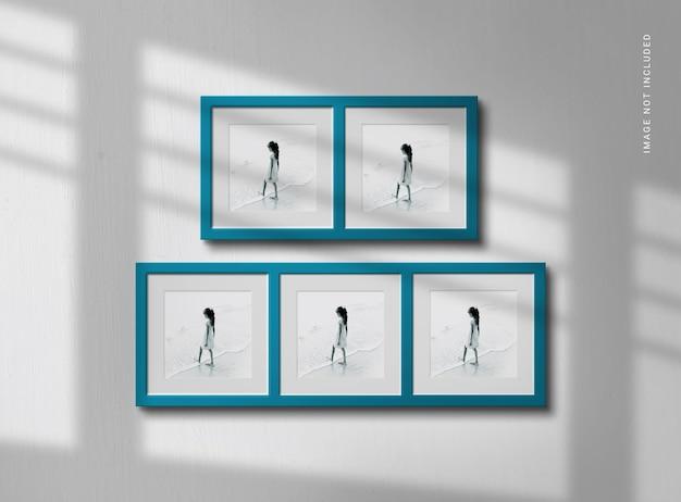 Photo frame mockup with elegant shadow