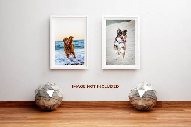 세라믹 장식으로 벽에 사진 프레임 모형