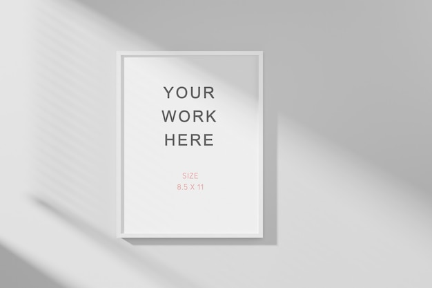 3d-рендеринг фото или макета рамки плаката