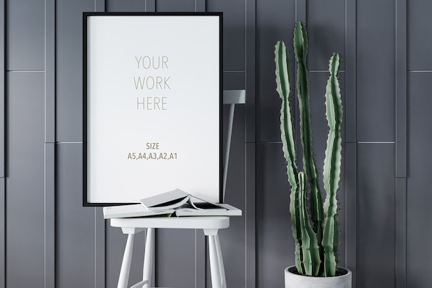 Photo or poster frame mockup