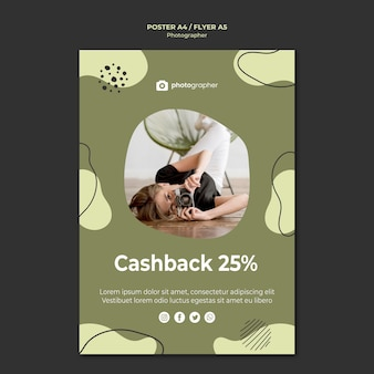 Photographer cashback poster template
