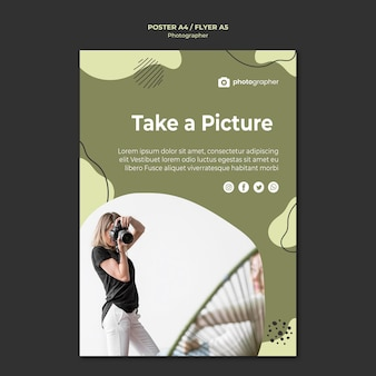 Photographer studio flyer template