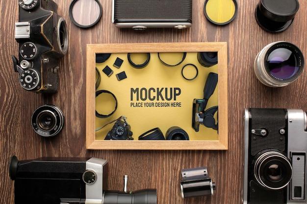 Photographer workshop mock-up arrangement