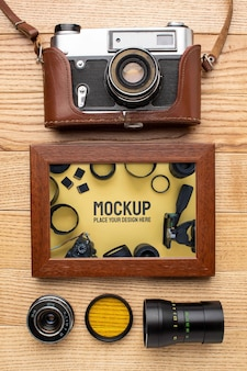 Photographer workshop with frame mock-up