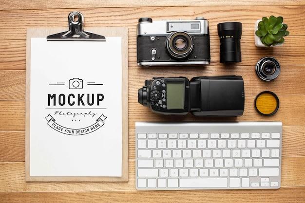 モックアップクリップボードを使用した写真家ワークショップ