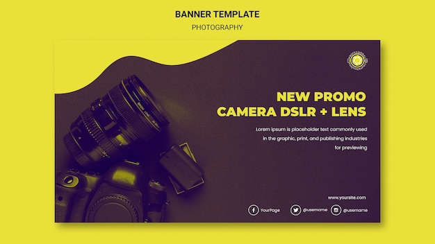 Photography ad banner template