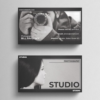 Photography business card vectors photos and psd files free download photography business card template accmission Images