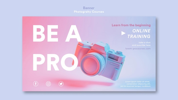 Photography concept banner template