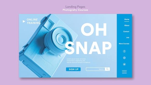 Modello di pagina di destinazione del concetto di fotografia