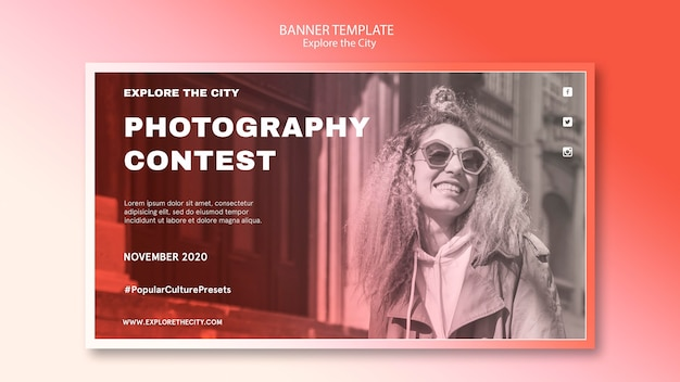 Photography contest banner template