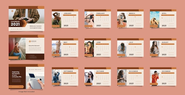 Шаблон календаря для фотографий