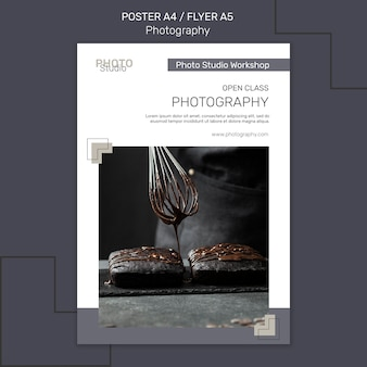 Photography poster template