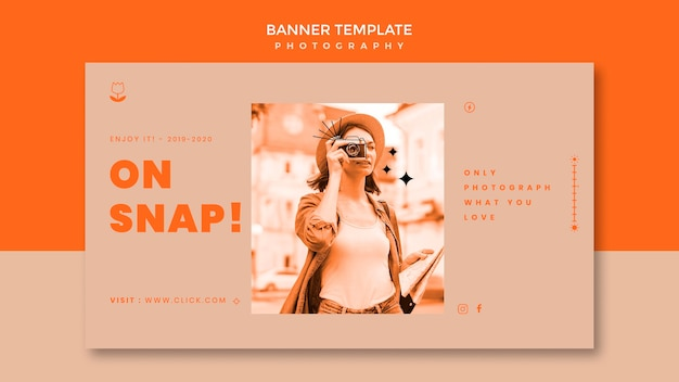 Photography shooting banner template