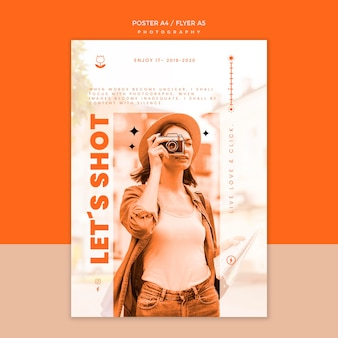 Photography shooting poster template
