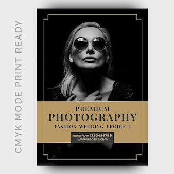 Photography studios flyer design template