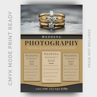 Photography studios flyer template