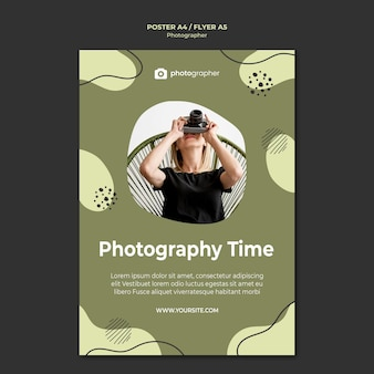 Photography time flyer template
