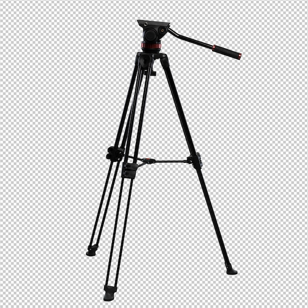 Photography tripod over white background