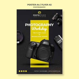 Photography workshop template poster