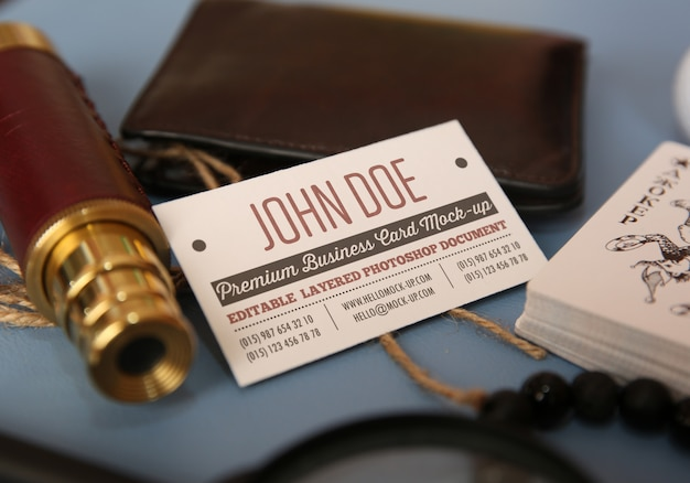 Photorealistic business card mock up