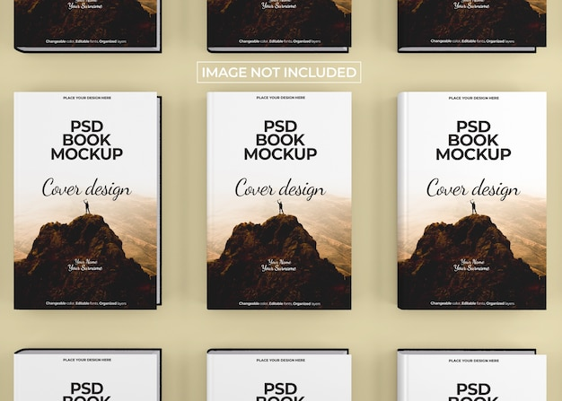 Photorealistic hardcover book mockup