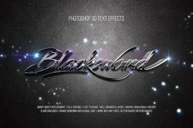 Photoshop 3d текстовые эффекты blacksword