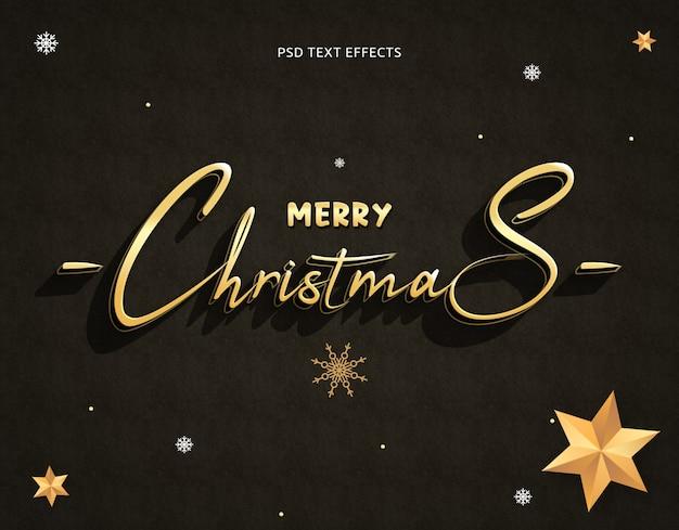 クリスマステキスト効果テンプレートphotoshop 3dテキストスタイル