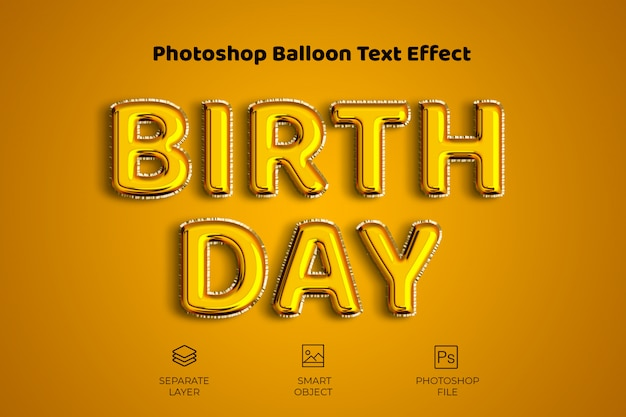 Photoshop balloon text effect