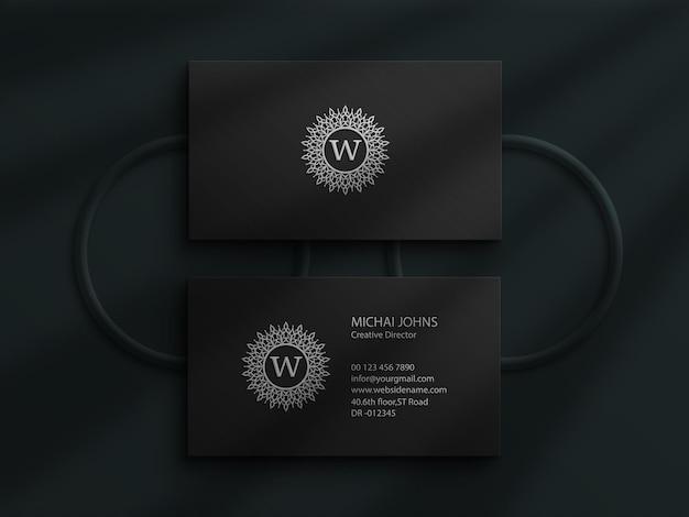 Фотошоп мокап визитки с дизайном shadow overlay