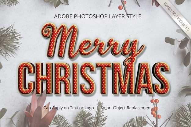 Photoshop christmas winter layer style