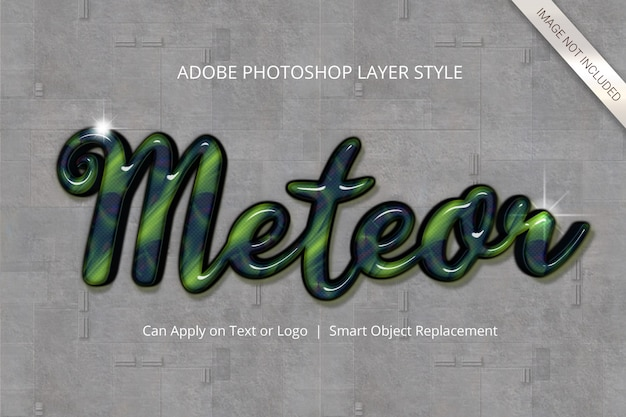 Photoshop text effect layer style