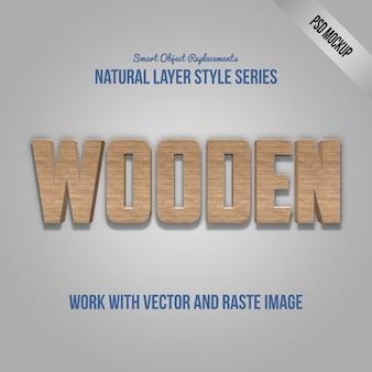Текстовый эффект photoshop работает с psd mockup и layer style