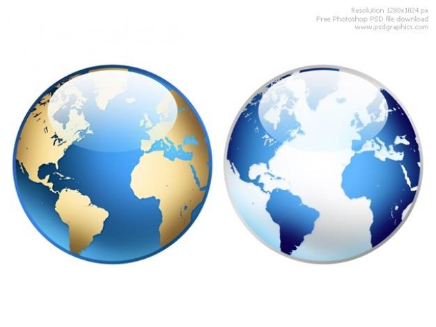 Photoshopの世界地球儀アイコン