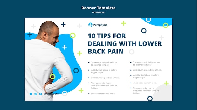 Physiotherapy concept banner template