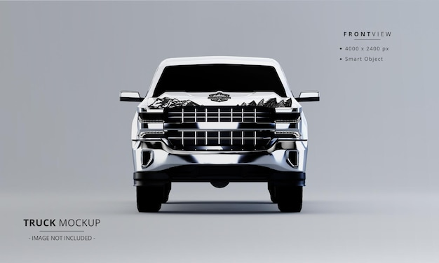 Pickup truck mock up from front view