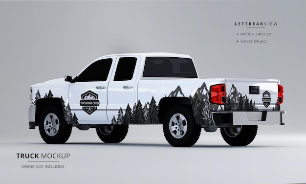 Pickup truck mock up from left rear view
