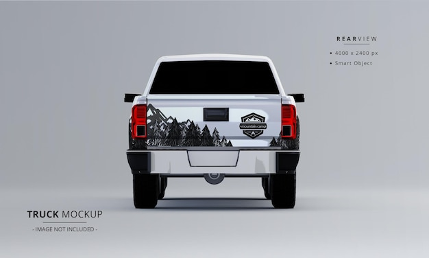 Pickup truck mock up from rear view