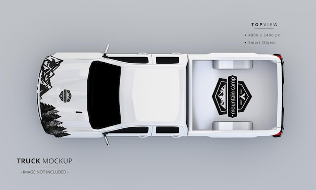 Pickup truck mock up from top view