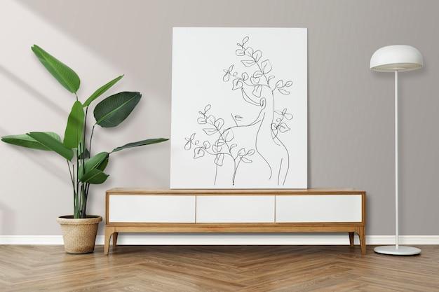 스칸디나비아 디자인의 액자 모형