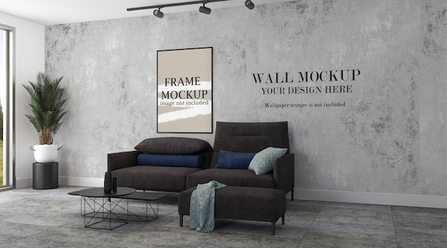 Picture frame and wall template in modern interior
